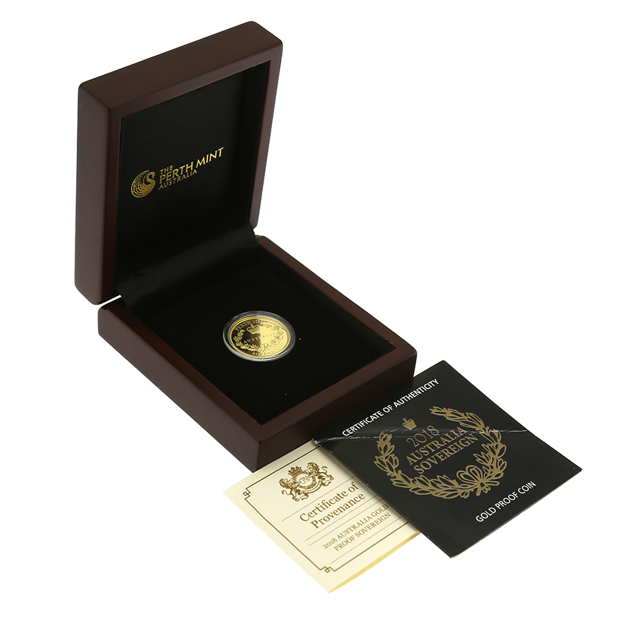 Pre-Owned 2018 Perth Mint Australia Sovereign Gold Proof Coin