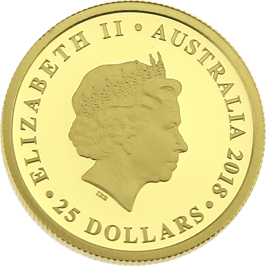 Pre-Owned 2018 Perth Mint Australia Sovereign Gold Proof Coin (Image 3)
