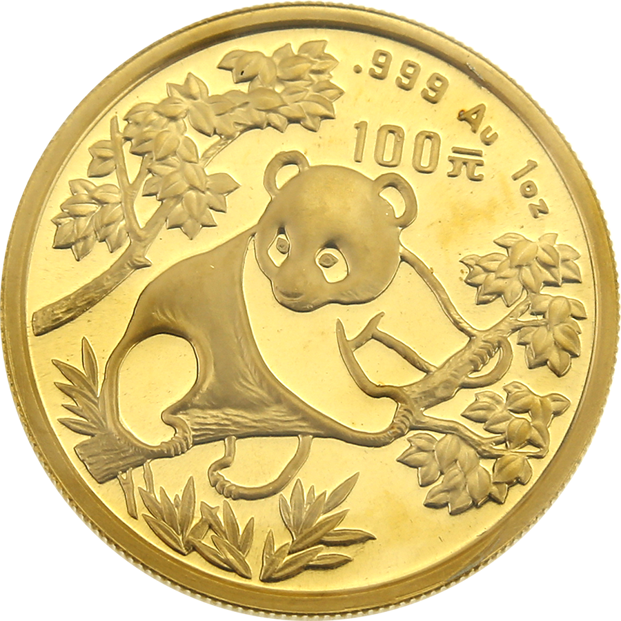 Pre-Owned 1992 Chinese Panda 1oz Gold Coin