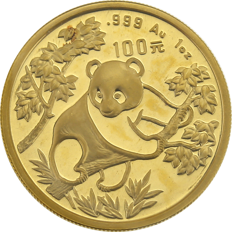 Pre-Owned - 1992 Chinese Panda 1oz Gold Coin