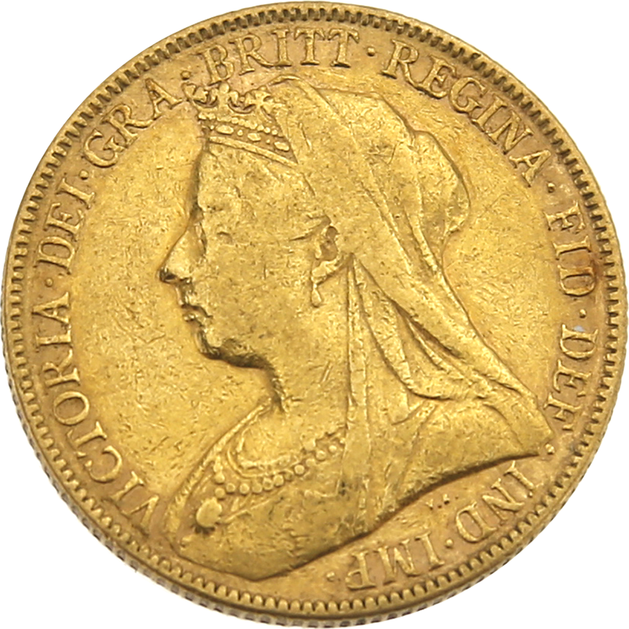Pre-Owned - 1896 London Victoria Veiled Head Full Sovereign Gold Coin