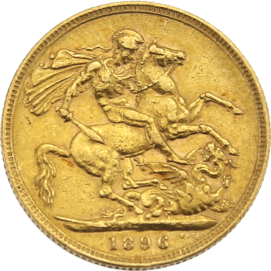 Pre-Owned - 1896 London Victoria Veiled Head Full Sovereign Gold Coin (Image 2)