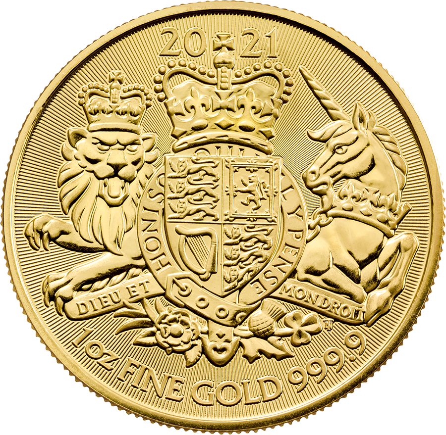Pre-Owned 2021 UK Royal Arms 1oz Gold Coin
