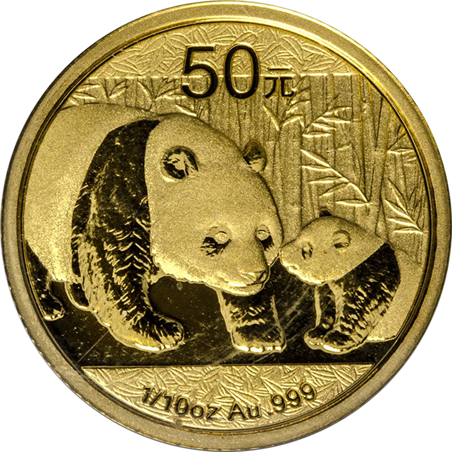 Pre-Owned 2011 Chinese Panda 1/10oz Gold Coin