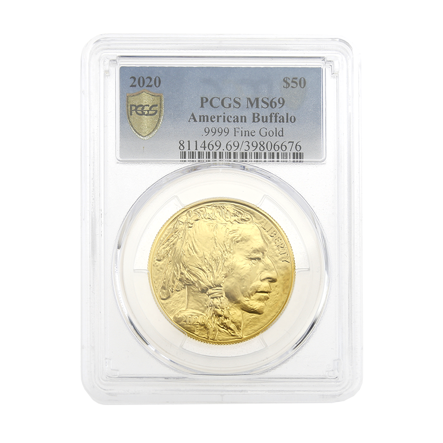 Pre-Owned 2020 USA Buffalo 1oz Gold Coin - PCGS Graded MS69 - 811469.69/39806676