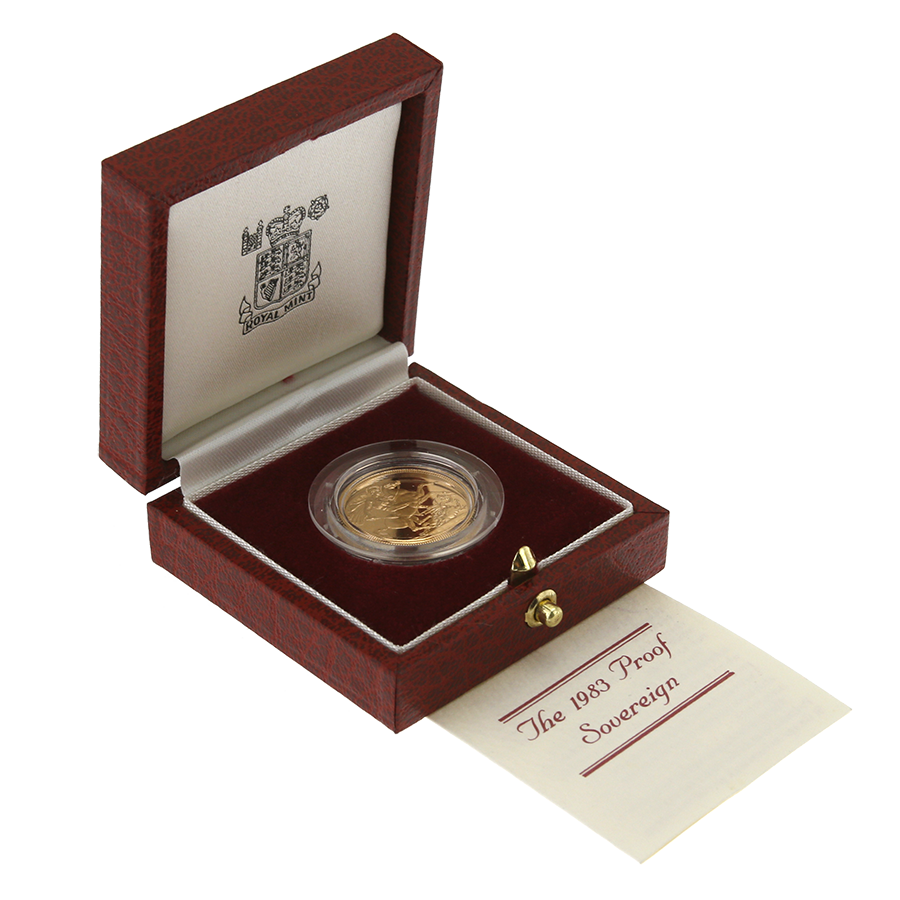 Pre-Owned 1983 UK Full Sovereign Gold Proof Coin