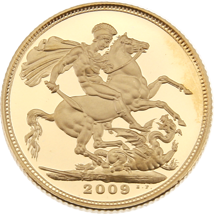 Pre-Owned 2009 UK Full Sovereign Gold Proof Coin (Image 2)