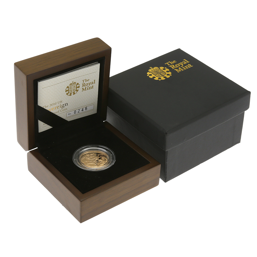 Pre-Owned 2010 UK Full Sovereign Gold Proof Coin