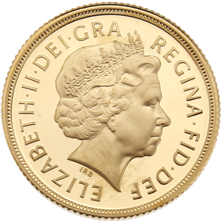 Pre-Owned 2008 UK Full Sovereign Gold Proof Coin (Image 3)
