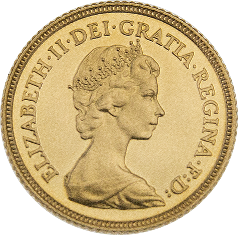 Pre-Owned 1980 UK Half Sovereign Proof Gold Coin (Image 3)