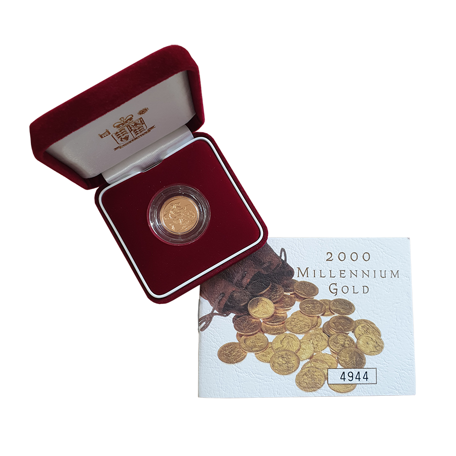 Pre-Owned 2000 UK Half Sovereign Gold Proof Coin