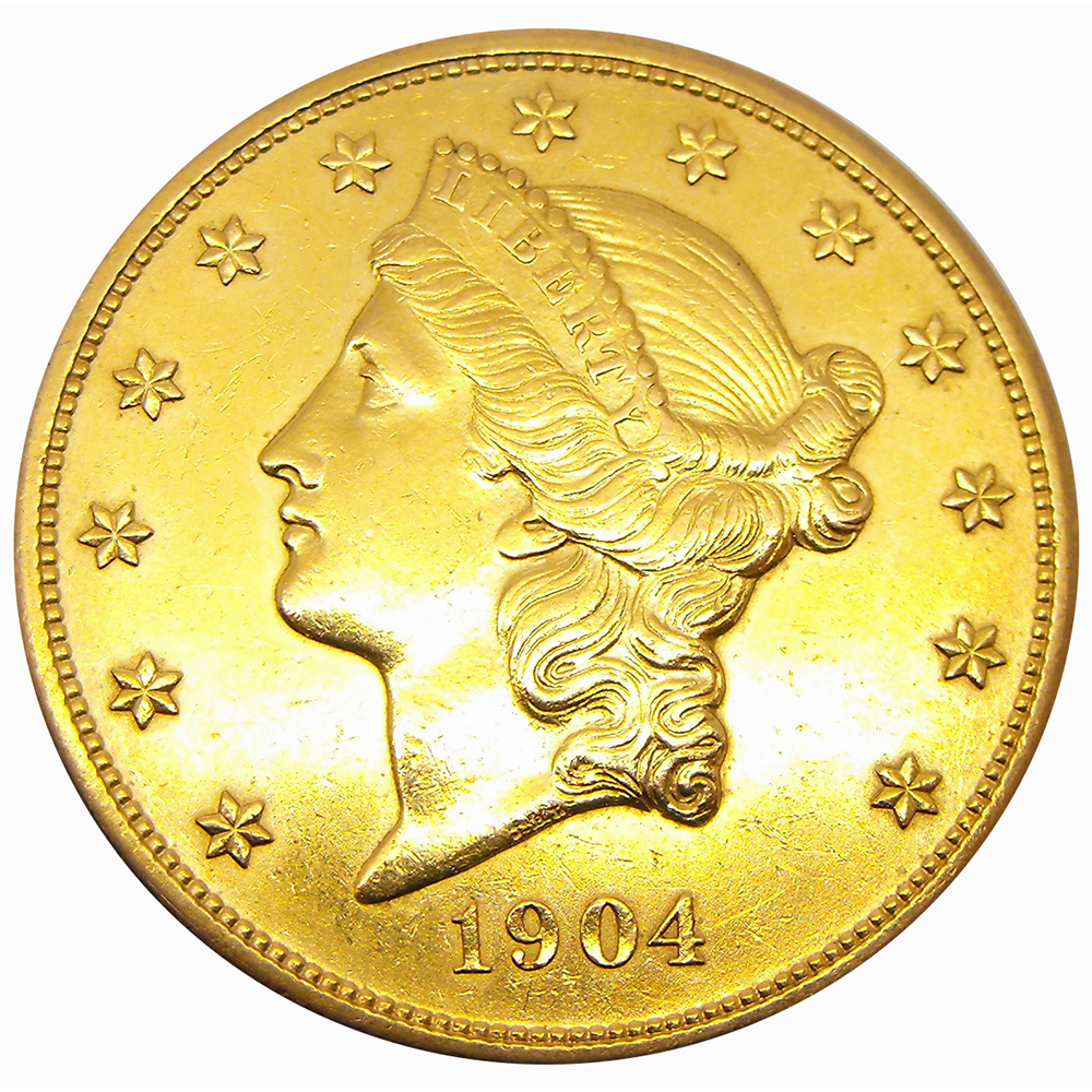 Pre Owned Usa 20 Double Eagle Gold Coin