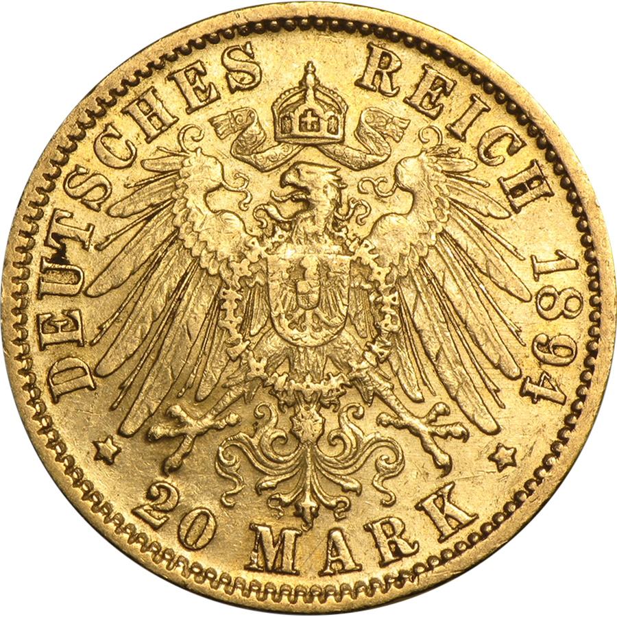 Pre-Owned German 20 Mark Gold Coin - Mixed Dates (Image 1)