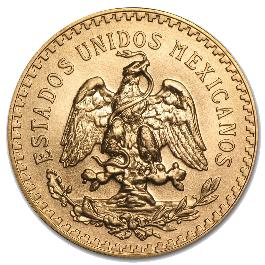 Pre-Owned Mexican 50 Peso Gold Coin - Mixed Dates (Image 2)