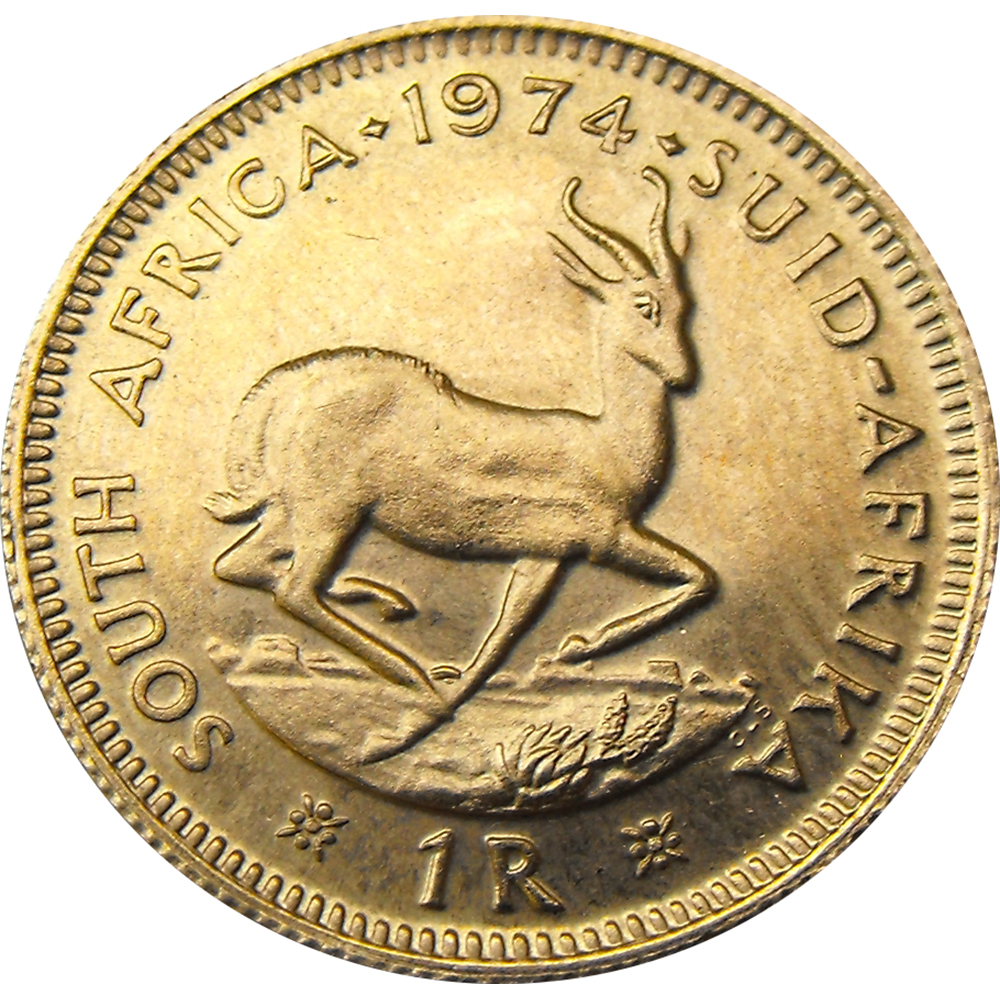 Pre-Owned South African 1 Rand Gold Coin - Mixed Dates