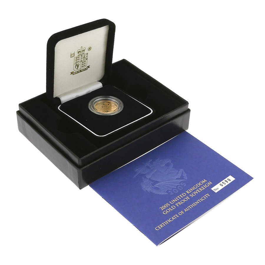 Pre-Owned 2005 UK Full Sovereign Gold Proof Coin