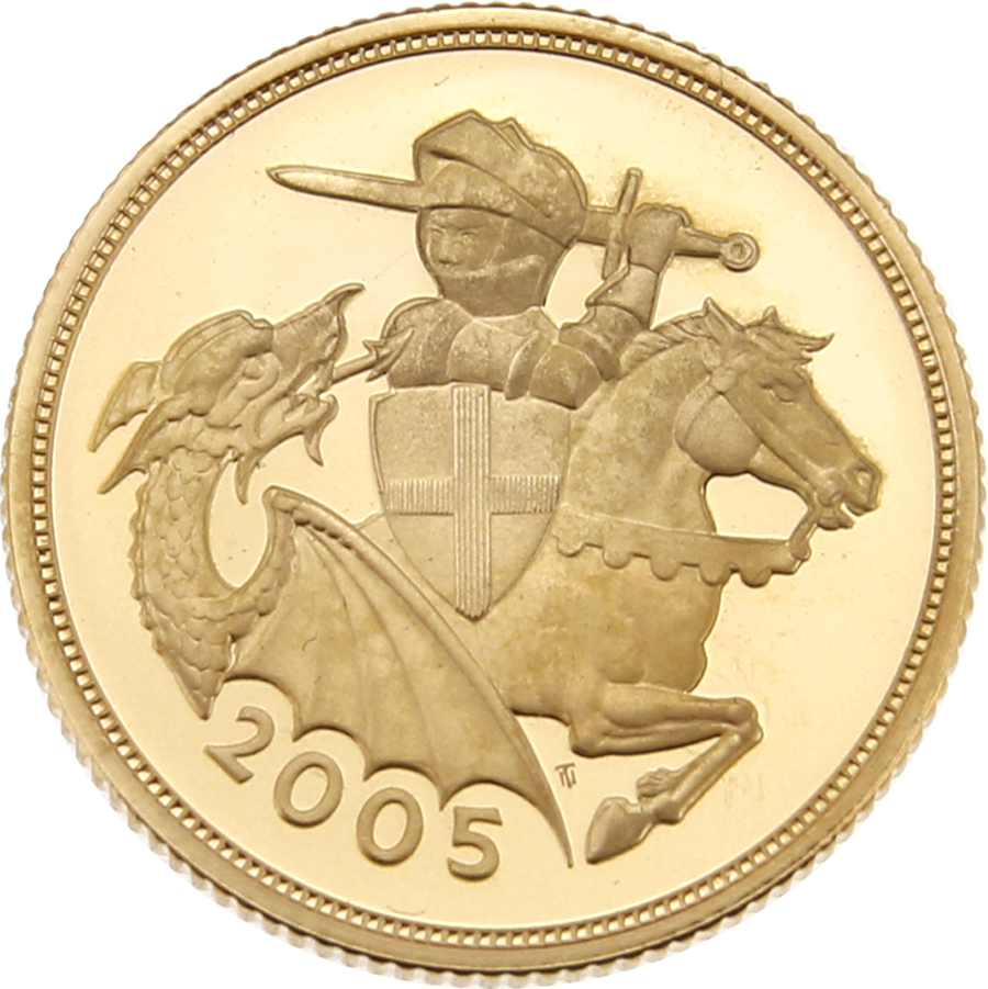 Pre-Owned 2005 UK Full Sovereign Gold Proof Coin (Image 2)