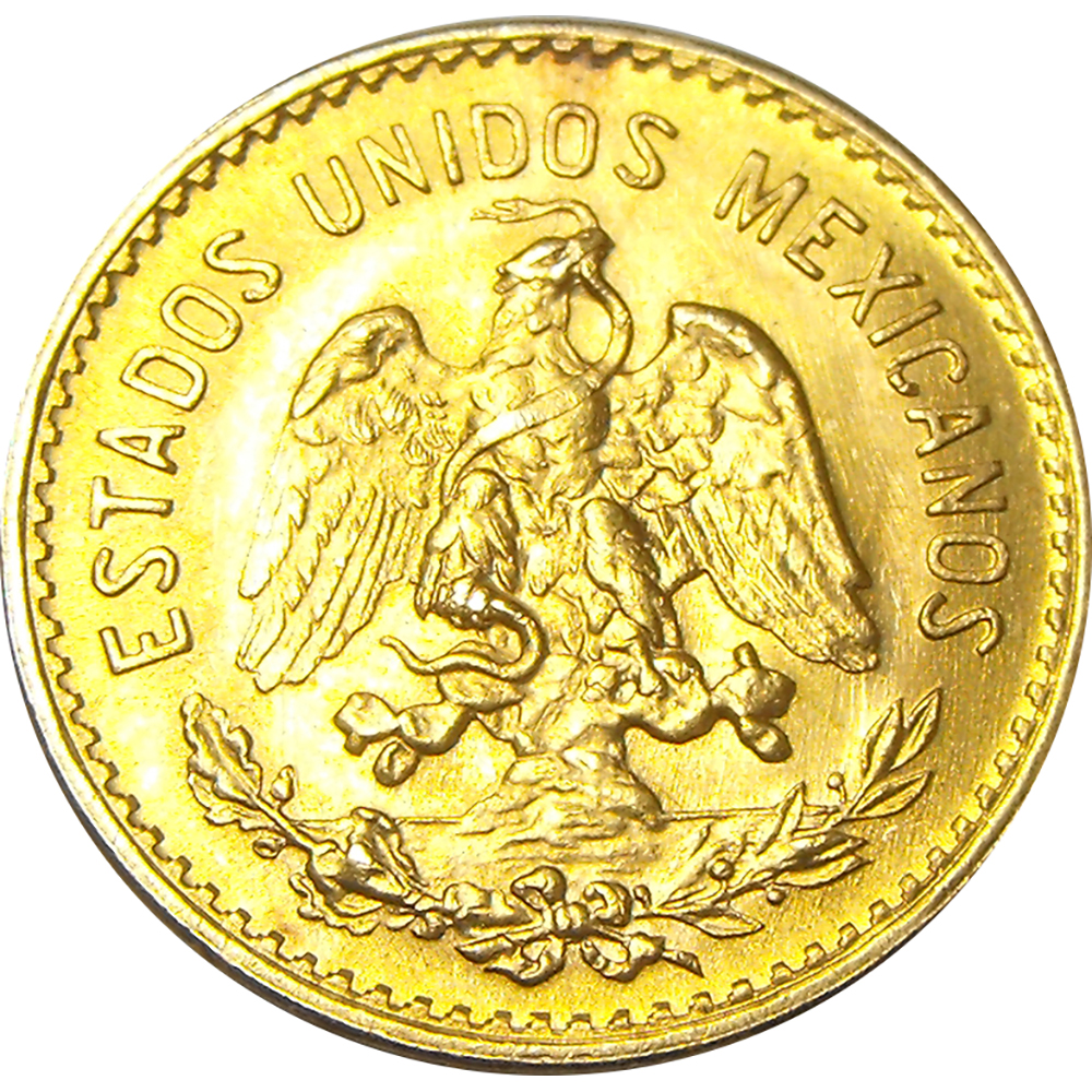 Pre-Owned Mexican 5 Peso Gold Coin - Mixed Dates