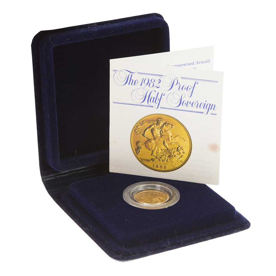 Pre-Owned 1982 UK Proof Half Sovereign Gold Coin