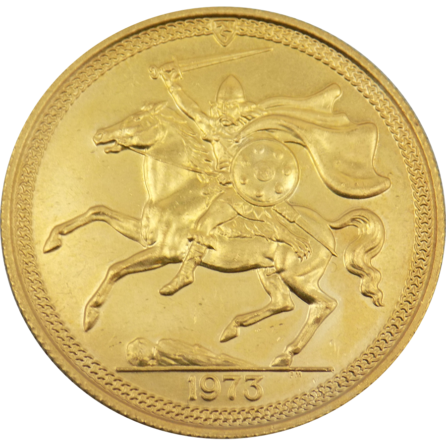 Pre-Owned Isle of Man Double Sovereign Gold Coin