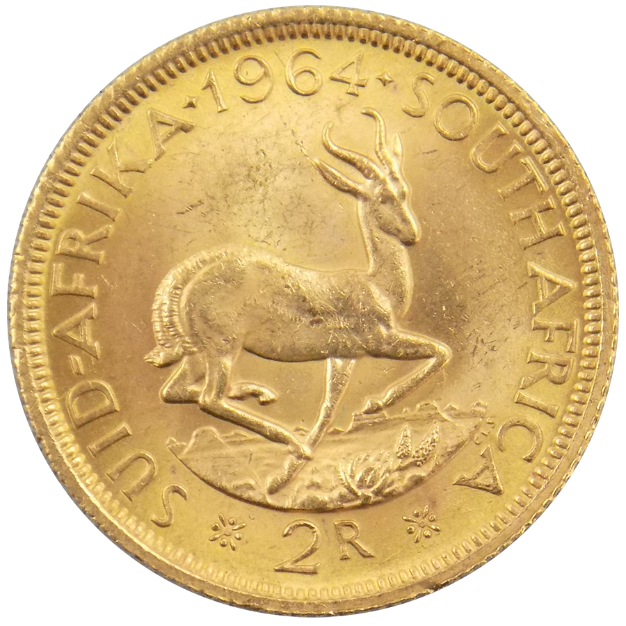 Pre-Owned South African 2 Rand Gold Coin - Mixed Dates