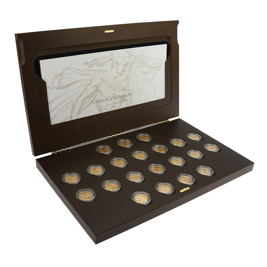 Pre-Owned 2003 UK The Royal Sovereign 21 Gold Coin Collection