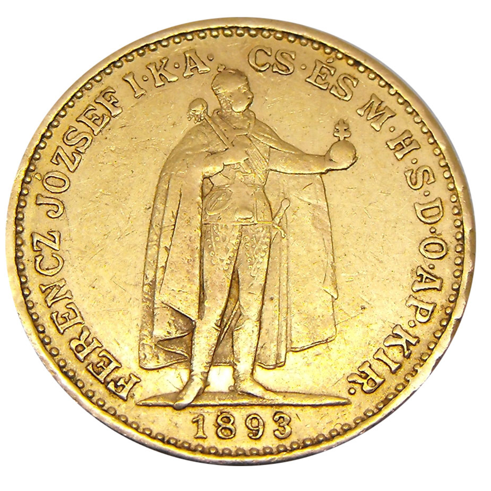 Pre-Owned Hungarian 20 Korona Gold Coin