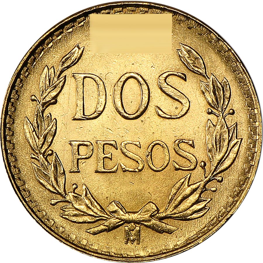 Pre-Owned Mexican 2 Peso Gold Coin - Mixed Dates