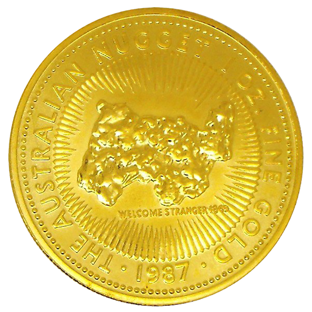 Pre-Owned Australian Nugget 1oz Gold Coin - Mixed Dates