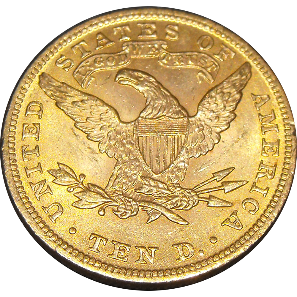 Pre-Owned USA $10 Double Eagle Gold Coin - Mixed Dates
