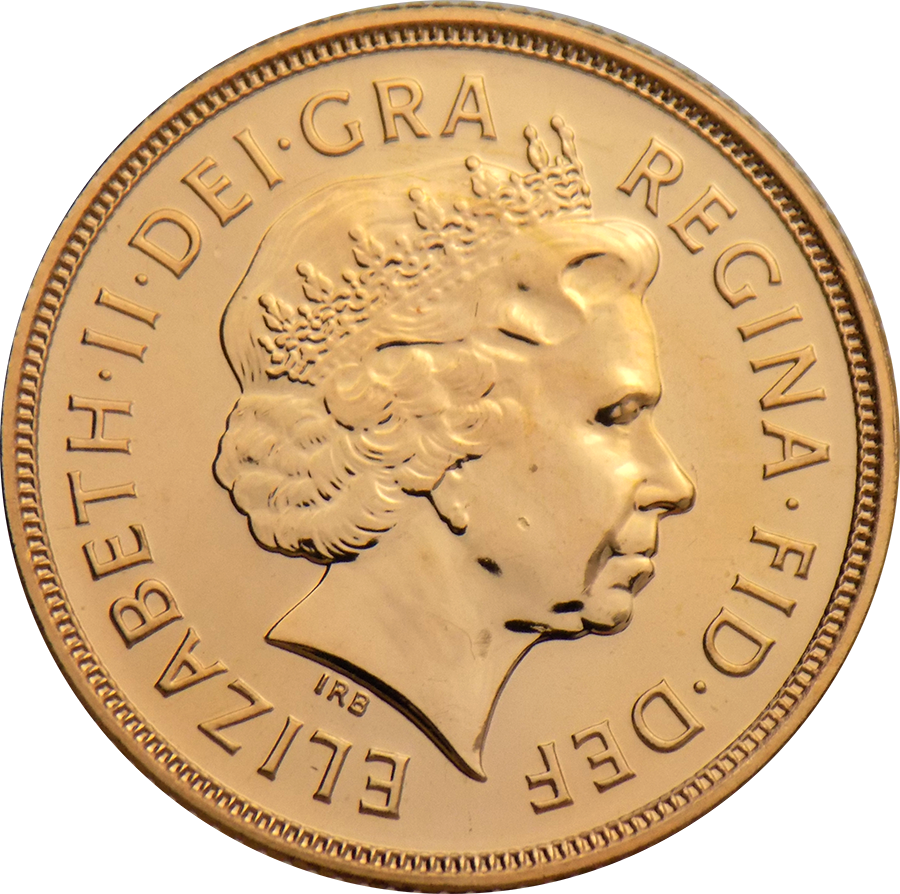 Pre-Owned 2002 UK Full Sovereign Gold Coin (Image 2)
