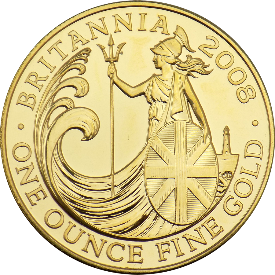 Pre-Owned 2008 UK Britannia 1oz Gold Coin