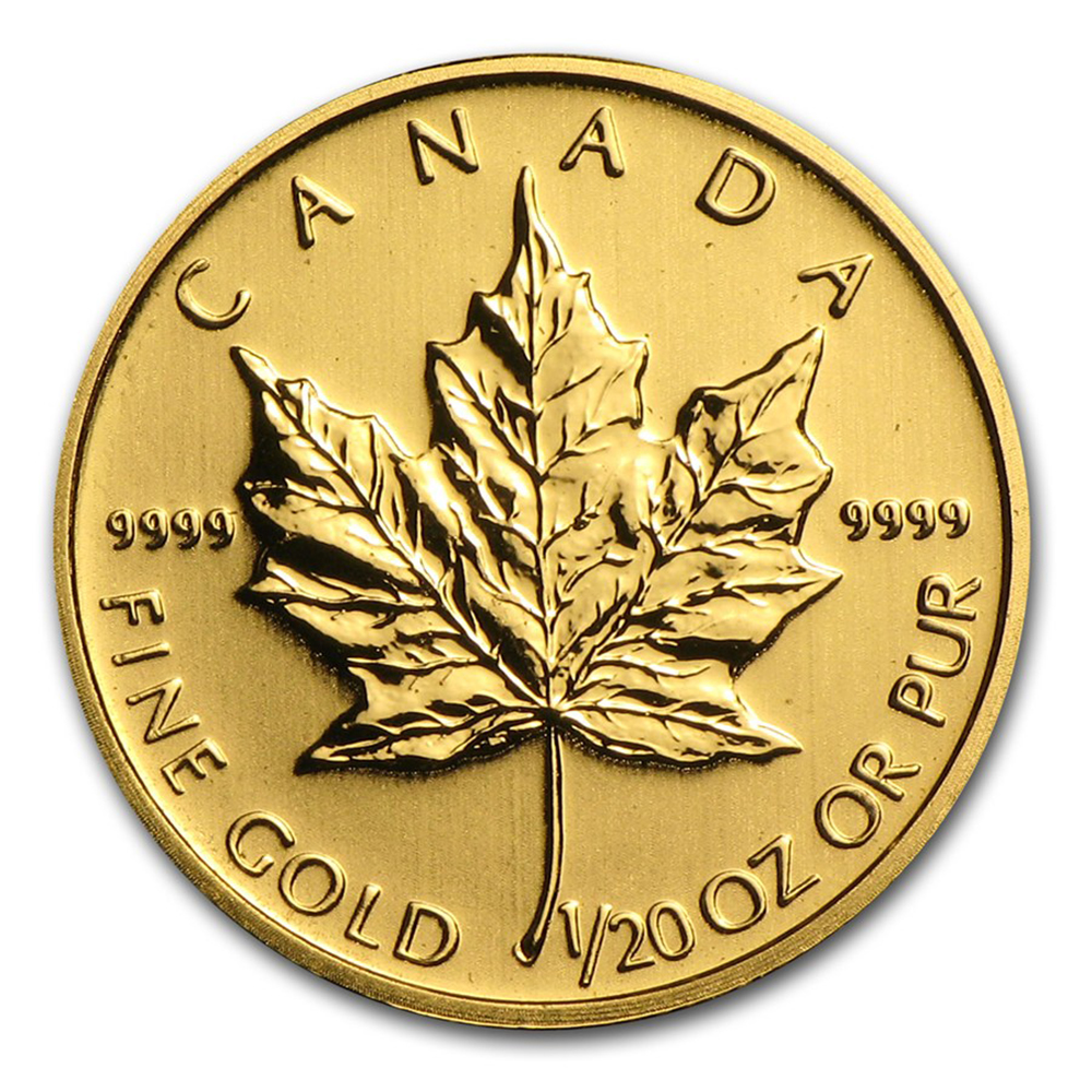 Pre-Owned Canadian Maple 1/20oz Gold Coin