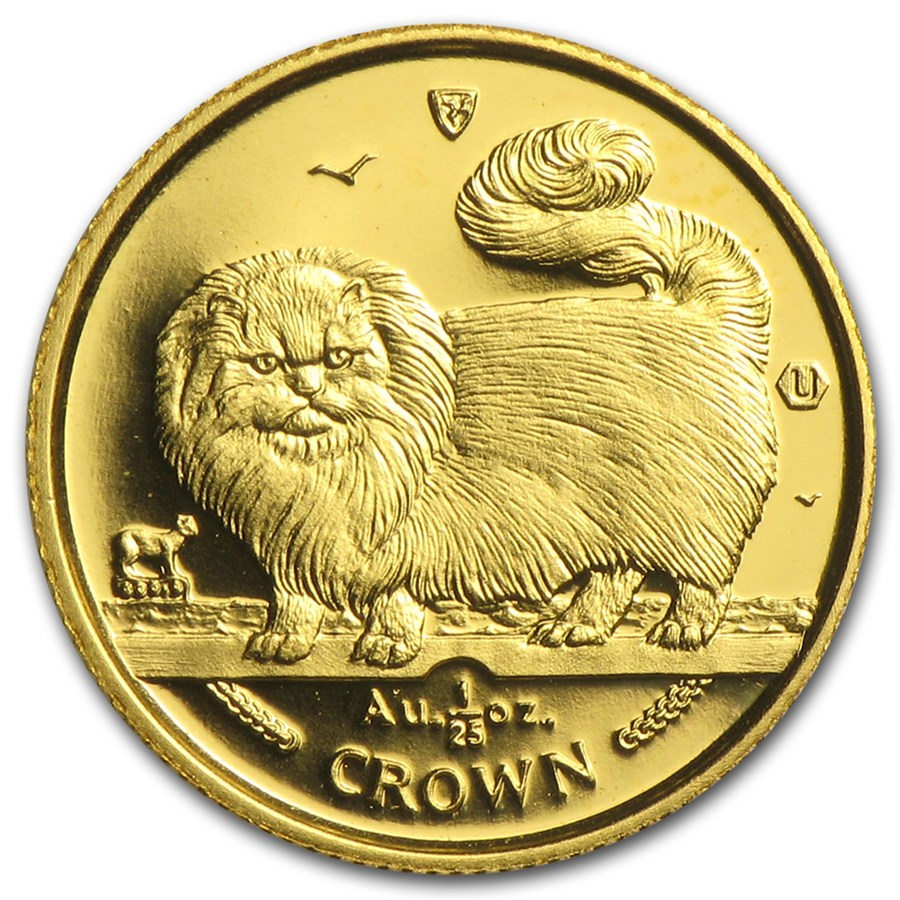 Pre-Owned Isle of Man 1/25oz Cat Gold Coin - Mixed Dates