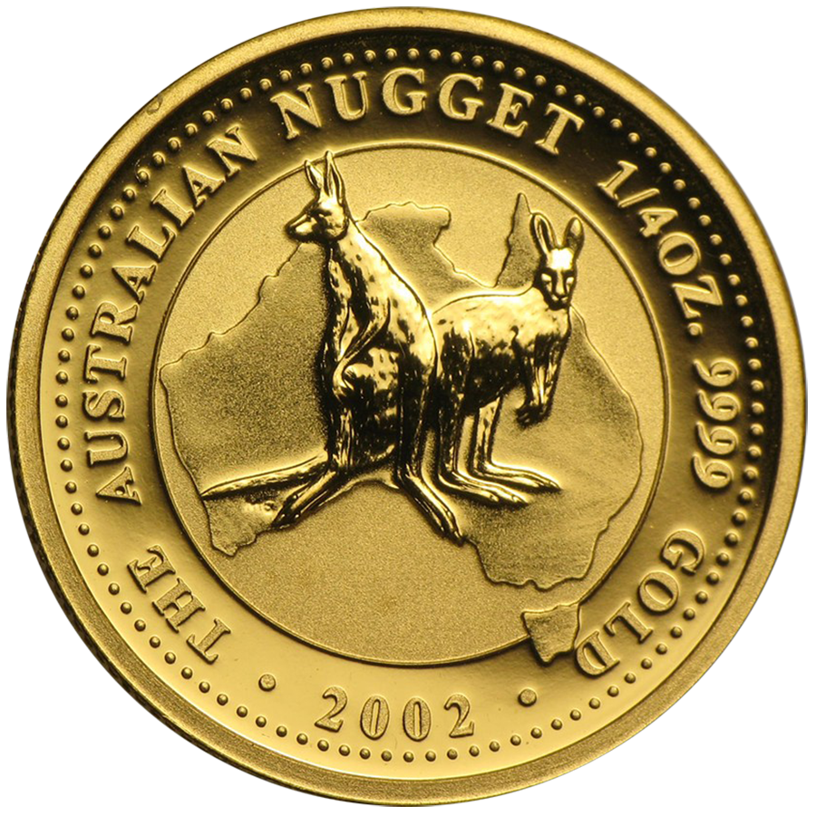 Pre-Owned 2002 Australian Nugget 1/4oz Gold Coin