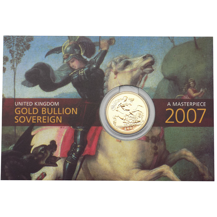 Pre-Owned 2007 UK Carded Full Sovereign Gold Coin