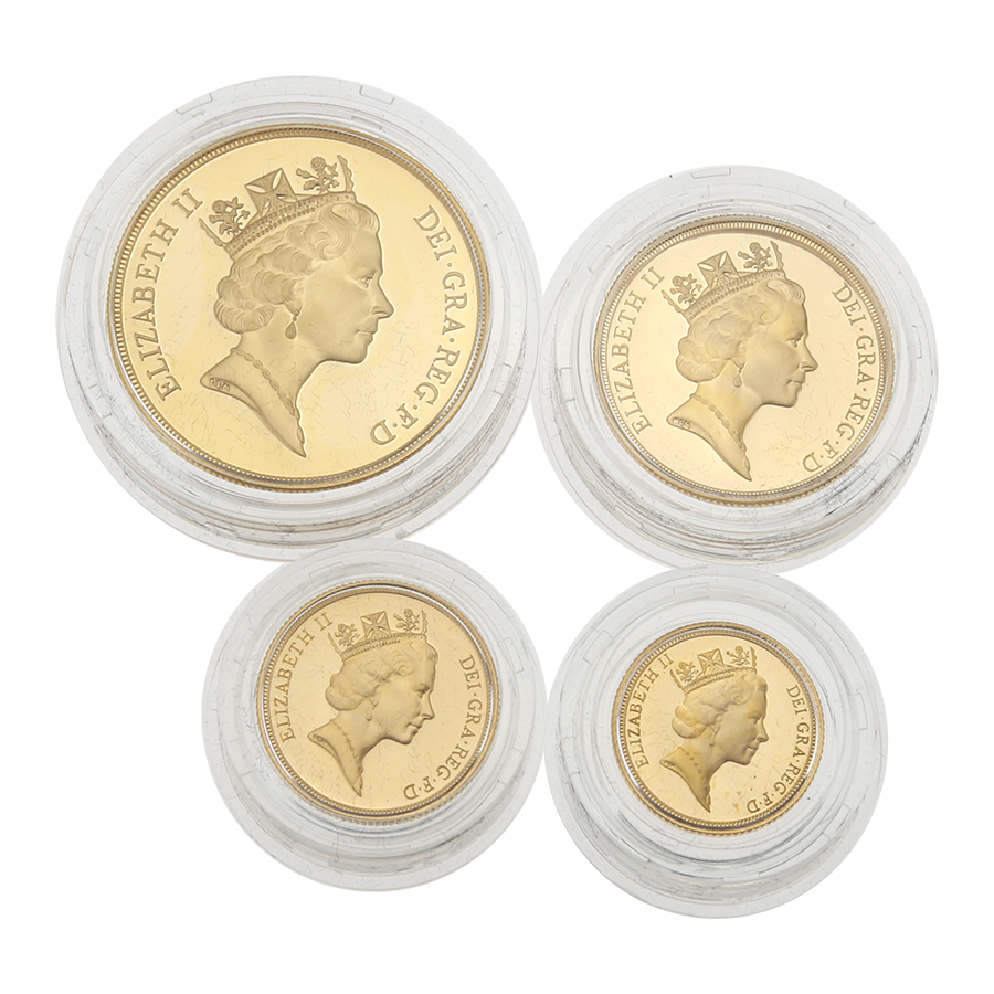 Pre-Owned 1996 UK Gold Sovereign Proof 4 Coin Collection (Image 3)