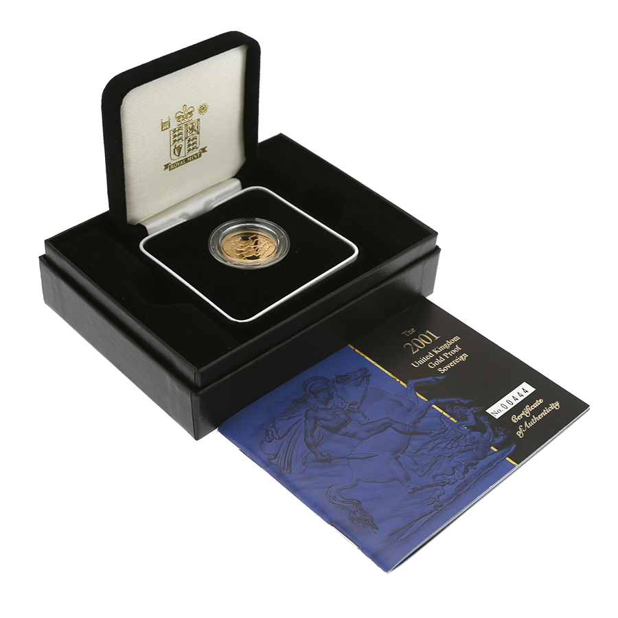Pre-Owned 2001 UK Full Sovereign Gold Proof Coin