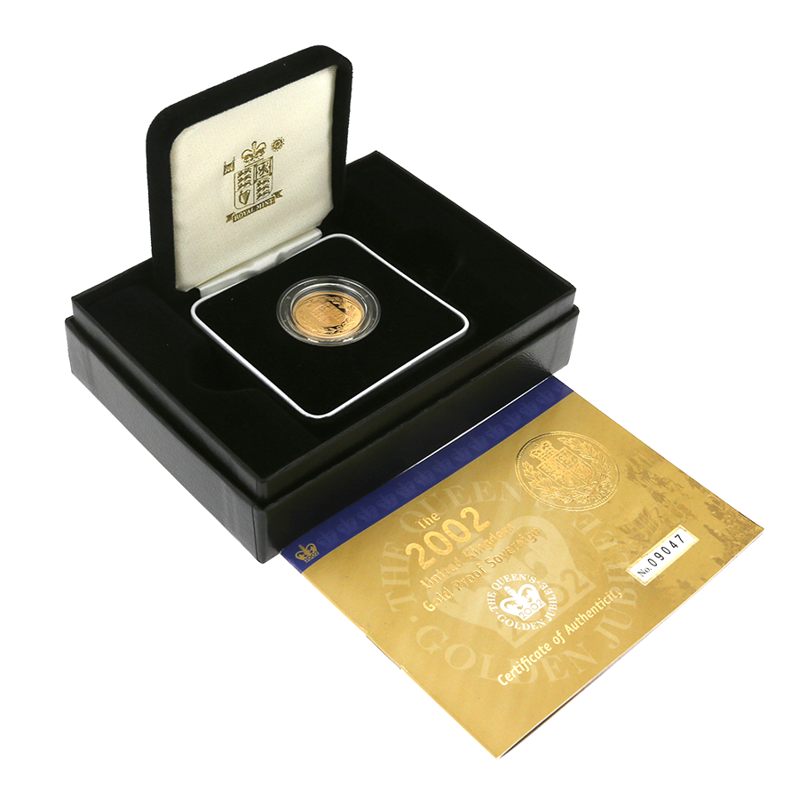 Pre-Owned 2002 UK Full Sovereign Gold Proof Coin
