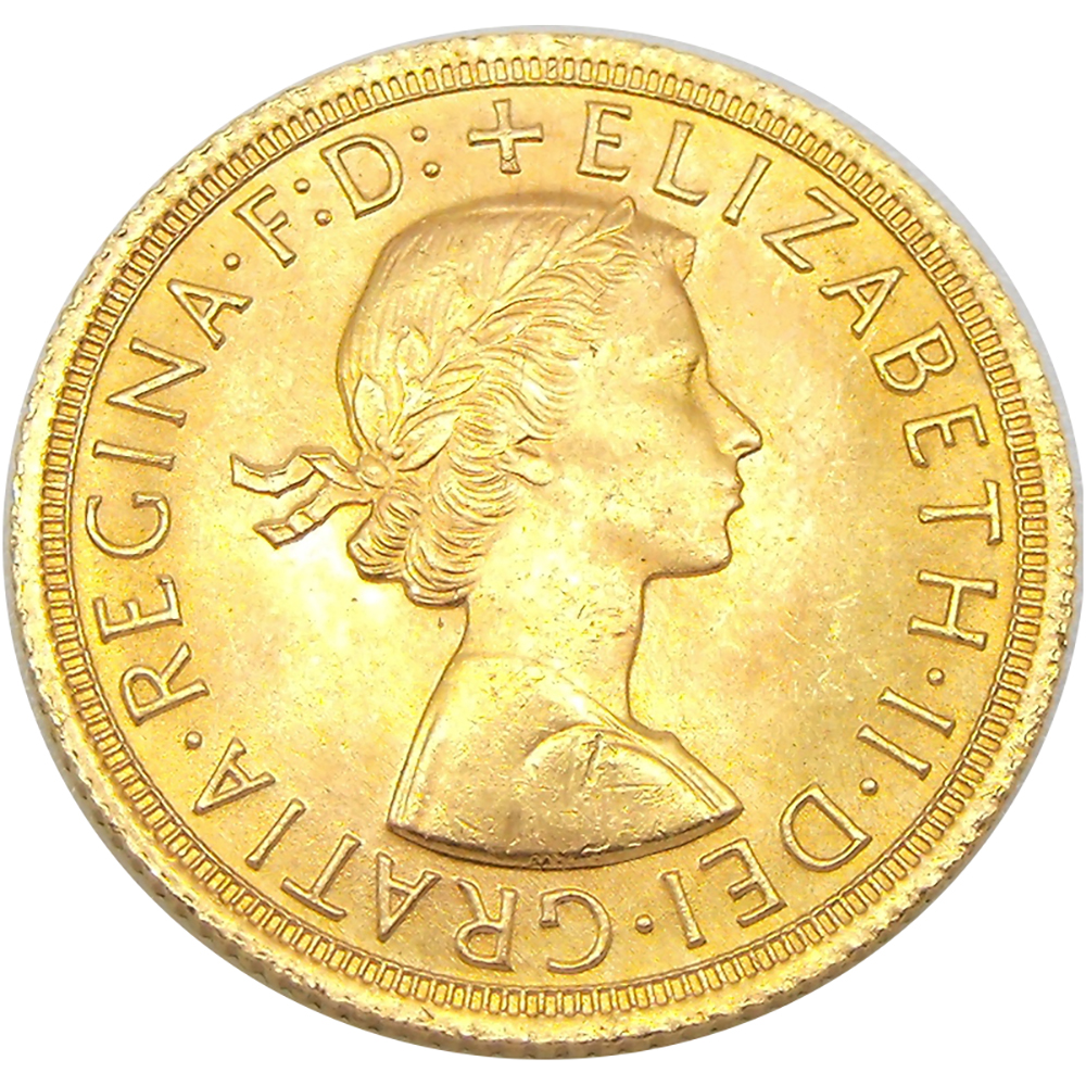Pre-Owned 1965 UK Full Sovereign Gold Coin (Image 1)