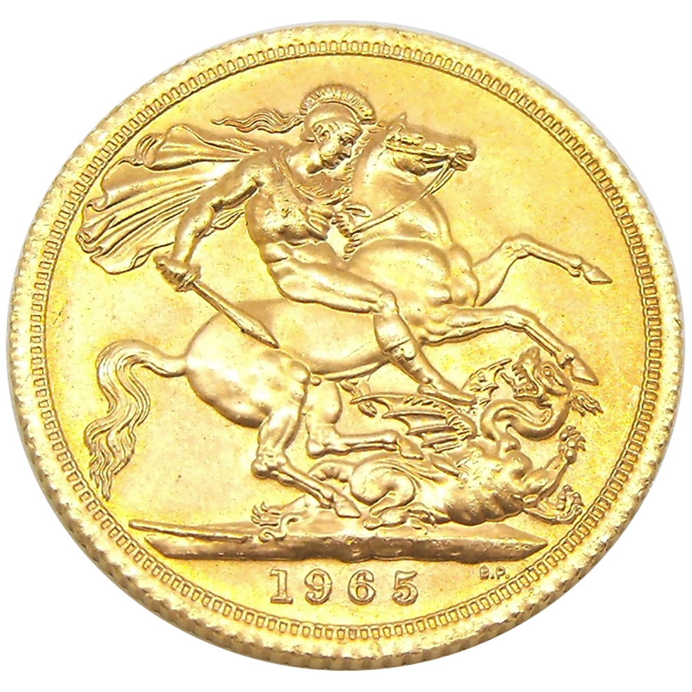 Pre Owned 1965 Uk Full Gold Sovereign Atkinsons