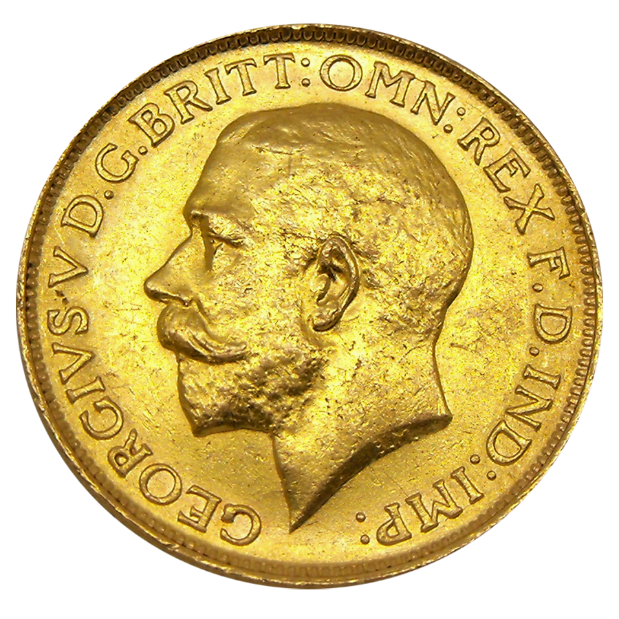 Pre-Owned 1915 UK George V Full Sovereign Gold Coin