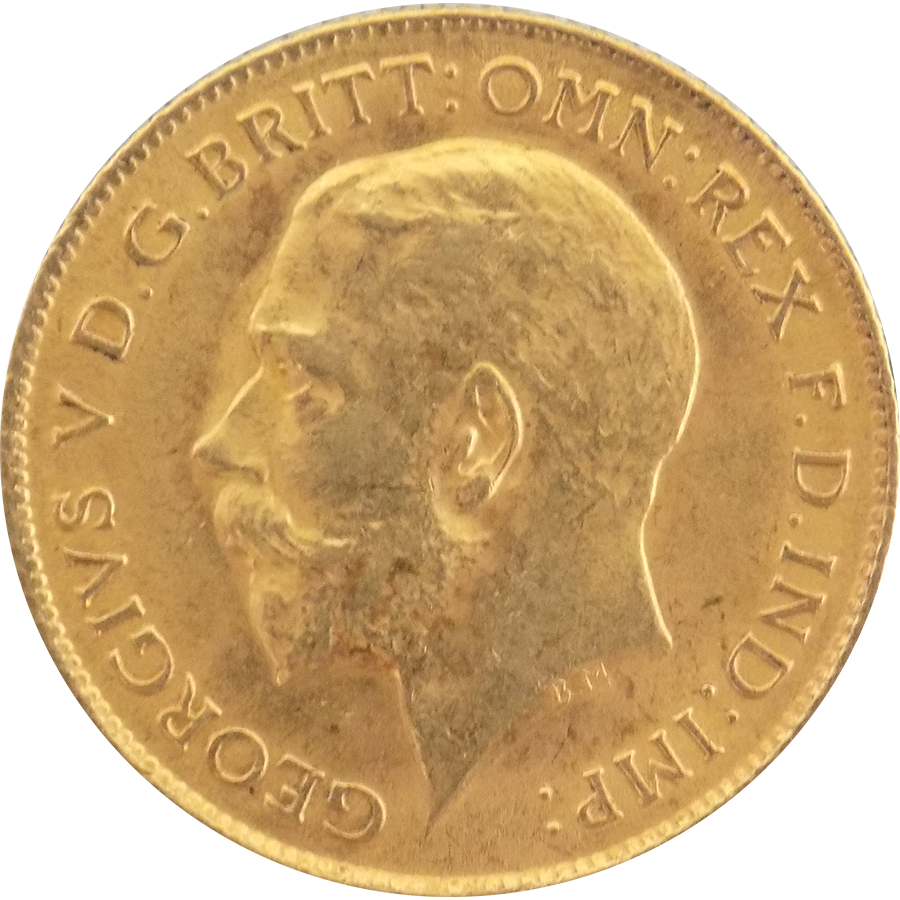 Pre-Owned 1915 UK George V Half Sovereign Gold Coin