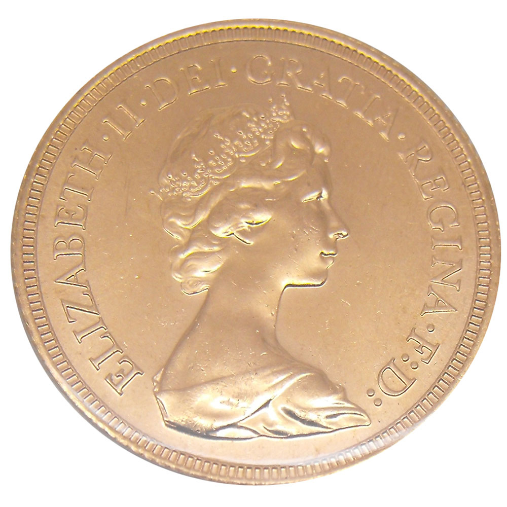 Pre-Owned 1980 UK Elizabeth II Full Sovereign Gold Coin
