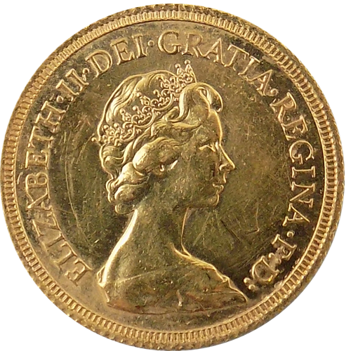 Pre-Owned 1976 UK Full Sovereign Gold Coin