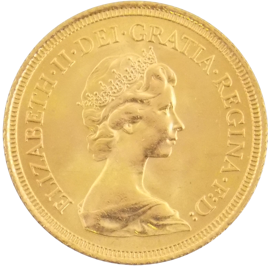 Pre-Owned 1974 UK Elizabeth II Full Sovereign Gold Coin