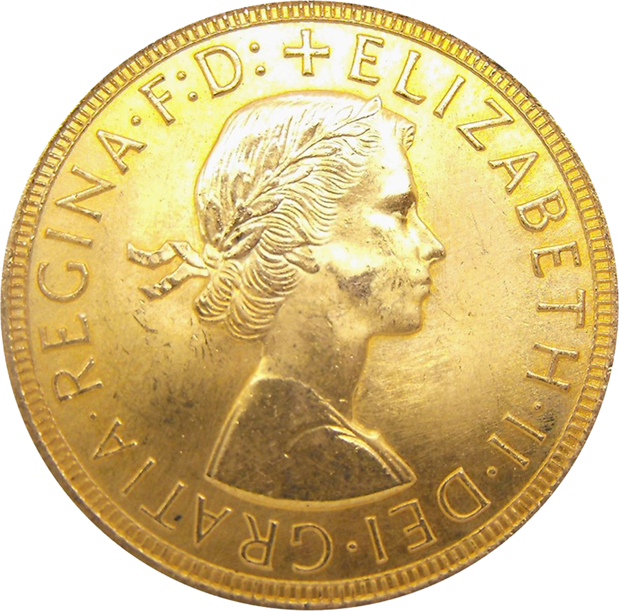 Pre-Owned 1963 UK Full Sovereign Gold Coin