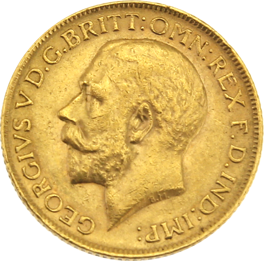 Pre-Owned 1911 London Mint George V Full Sovereign Gold Coin