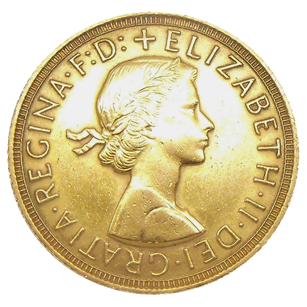 Pre-Owned 1958 Full Sovereign Gold Coin