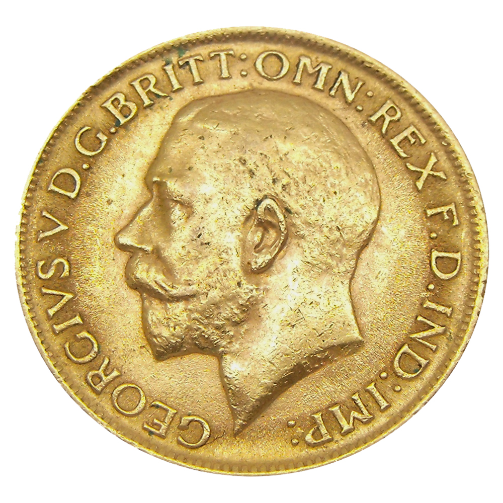 Pre-Owned 1912 London Mint George V Full Sovereign Gold Coin